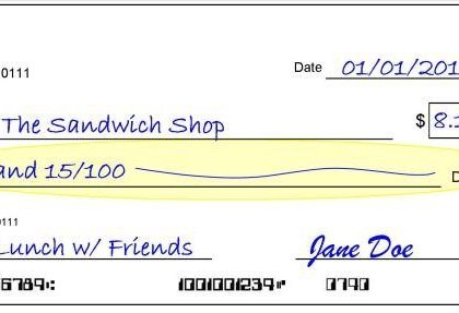 How to Write a Check #Adulting